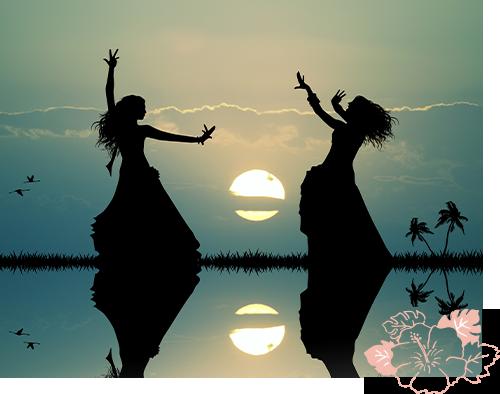 古来のハワイのフラダンスの画像